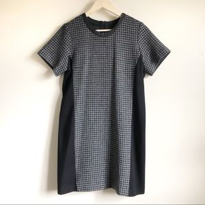 J. Crew Mixed Houndstooth Gray Wool shift …